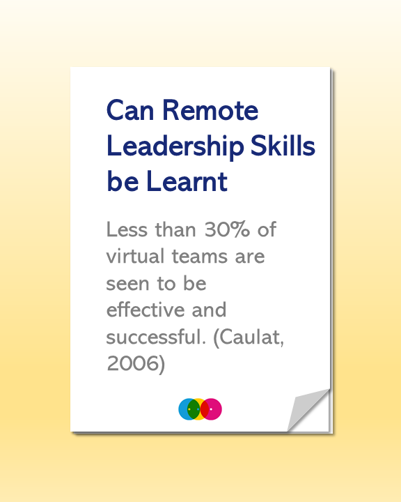 Can Remote Leadership Skills be Learnt